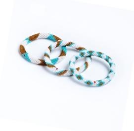 Nepal Mission Bracelets - Aztec Turquoise Love